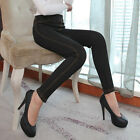 Fashion Women's Winter Faux Jeans Warm Fleece Lined Long Pants Trousers Leggings