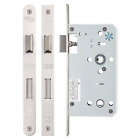 Zoo Mortice DIN Bathroom Lock Latch & Deadbolt Case Body 60mm Backset Stainless
