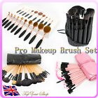 10/24/32 Cosmetic Make Up Makeup Brushesh Toothbrus Brush Set Kit Leather Case