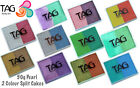 50g TAG 2 Colour Split Cake Face Paint