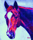 HORSE PRINT Giclee CHESTNUT Horse MADURO artist BETS 5 COLORS print size 15 X 18