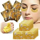 10 Pair Crystal Collagen Gold Under Eye Gel Pad Face Mask Anti Aging Wrinkle RR