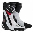 Alpinestars S-MX Plus 2013 Racing Boots White/Red Vented