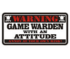 Game Warden Warning Decal Conservation Officer Gloss Vinyl Window Sticker HGV