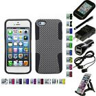 For Apple Iphone 5/5s/se Hybrid Rugged Impact Hard Soft Case Cover Accessories