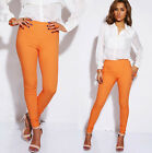 Women's Girls Skinny Jeans Slim Fit Trousers Jeggings Orange Size 8 EU 36