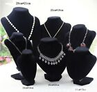Velvet Necklace Pendant Chain Jewelry Bust Display Holder Stand Brand HF