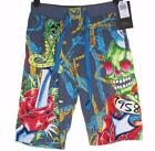 New Men's Ed Hardy Shorts Beach Lounge Sleep Pyjama Skull Dagger Rose RRP$99