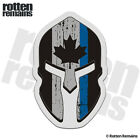 Canada Subdued Flag Thin Blue Line Spartan Decal Police Gloss Sticker HGV