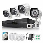 Zmodo 1080p 4CH NVR 2.0MP PoE IP Network IR-cut Home Security Camera System 2TB