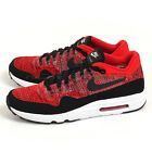 Nike Air Max 1 Ultra 2.0 Flyknit University Red/Black 875942-600 Running Shoes