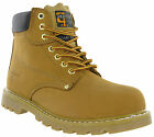 Grafters Honey Safety Boots Steel Toe Ankle Padded Goodyear Welted Leather Mens