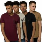 Mens Crew Neck Tee Short Sleeved Zip Detail T-Shirt Longline Top Loyalty & Faith