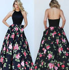 sexy backless womens long dress coat pointed flowers skirts Ball party formal