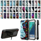 "For Google Pixel XL 5.5"" HTC Hybrid Dual Layer Stand Protective Case Cover + Pen"