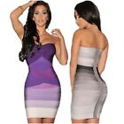 Sexy Backless Strapless Short Dress Women Bodycon Bandage Stretch Party Gown New