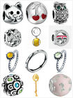 Wholesale Silver Charms Beads Rings Fit European Snake Chain Bracelet US