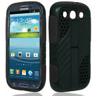 For Samsung Galaxy S3 9300 DUAL Kickstand Phone Case Hard Soft IMPACT ARMOR <br/> IN-STOCK - FREE SHIPPING FROM THE USA - BEST SELLER!