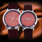 NO.1 Hot Sale Romantic Couple Lover RED PU Leather Wrist Watch Women Men Quartz