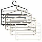 Quality Plastic 5 Bar Trouser Hangers Wardrobe Organise Storage Pants Tidy Hang