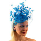 Flirty Feathers Netted Veil Fascinators Headband Cocktail Derby Church Hat