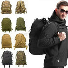 3D  40L Molle Tactical Outdoor Military Rucksack Backpack Bag Camping Hiking UK