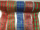 ELEGANZA 'TARTAN' wire edged ribbon Burns night - avail in 7 designs 6 lengths