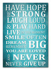 - Inspirational Wall Picture Have Hope Be Strong..Glossy Poster .TURQUOISE