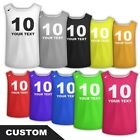 Personalized Sports Soccer Football Rugby Training BIBS Any Text Logo Pavoz