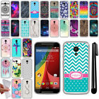 For Motorola Moto G 2nd Gen 2014 XT1068 TPU SILICONE Protective Case Cover + Pen