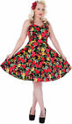 Dolly and Dotty AUDREY Floral Vintage JIVE 50s Neckholder KLEID Rockabilly