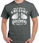 This Is What An Awesome Uncle Looks Like Mens Funny Fathers Day T-Shirt Xmas D2