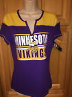 NWT NFL Team Apparel Womens MINNESOTA VIKINGS Purple SS T-Shirt, $28.00