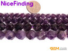 "Natural Purple Faceted Amethyst Gemstone Loose Beads For Jewelry Making 15"" DIY"