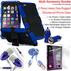 Shockproof Protection Heavy Duty Tough Phone Case Cover✔Accessory Pack✔Blue