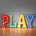 PLAY Metal Marquee Sign Letters Light Play Game Room Man Cave Arcade 24 COLORS