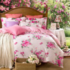 NEW Floral Pink SINGLE/DOUBLE/QUEEN/KING Size Bed Quilt/Doona/Duvet Cover Set 3P