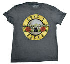 Mens Guns N' Roses Snow Heather Classic Bullet Logo Rock Shirt New Pick Size