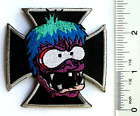 Knif MONSTER Iron Cross EMBROIDERED Sew/Iron on Coveralls HAT Patch by ROB KRUSE
