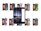 Tempered Glass+2Layer Slim Hybrid Impact Case Cover For ZTE ZMAX Pro/Blade X Max