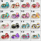 2 Piece Valentine's Day Heart Lovers Murano Lampwork Silver European Charm Beads