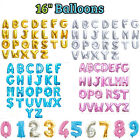 """Gold Silver Pink Blue 16"""" Alphabet Letter Number Foil Balloon Wedding Party New"""