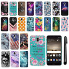 For Huawei Mate 9 PATTERN HARD Protector Back Case Phone Cover + Pen