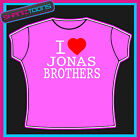 I LOVE HEART JONAS BROTHERS TSHIRT ALL SIZES & COLOURS