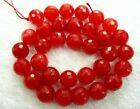 UKcheapest-red chalcedony round,faceted 4 6 8 10 12 14mm gemstone beads