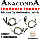 Anaconda Leadcore Leader - Safety Lead Clip oder Heavy Duty Lead Clip - 2 Stück