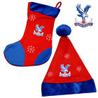 CRYSTAL PALACE FC - Official CHRISTMAS Santa Hat/Stocking (Gift/Xmas/Fun)