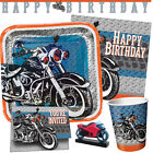 CYCLE SHOP Birthday Party Range - Motorbike Tableware Balloons & Decorations