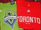 MLS soccer Shirt Tee men adult Adidas LONG SLEEVE Sounders Toronto green red L