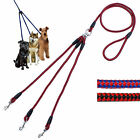 New 3 Way Dog Coupler No-Tangle Leash Lead Double For Walking 3 Small Dogs